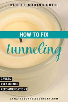 Tunneling is a common problem with candles.  Learn why it happens, what you can do about it, and recommendations for dealing with tunneling!#candlemaking #candles #diycandles Diy Aromatherapy Candles, Beeswax Candles, Soy Candles, Make Candles, Homemade Scented Candles, Candle Making Business, Soy Candle Making, Essential Oil Candles, Candlemaking