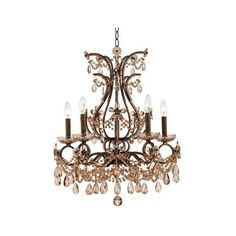 Kathy Ireland Palais Porcia 5-Light Chandelier ($500) ❤ liked on Polyvore