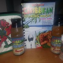 GREAT GIFT IDEA FOR THE HOLIDAYS! $36.98 8oz. bottle of Pineapple-Orange Sauce 8oz. bottle of Spicy Mango Sauce 3oz. Stewed Cabbage Spice  Hey Mon Caribbean Cooking Magic Cookbook by Errol Bishop 1 Dishtowel or Kitchen Utensil (item may vary)  Items will be securely packaged and shipped directly from Hey Mon warehouse in Tampa, FL....