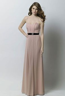 Brides: Long, Strapless Bridesmaid Dresses in Every Color | Wedding Dresses and Style | Brides.com