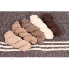 custom woolen mills - prairie wool lopi soft spun 70% alpaca - skeins : alpaca + merino wool . soft . natural alpaca colours