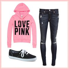 """""""Casual Pink"""" by aeris-mia-busa on Polyvore"""