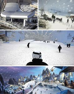 Ski Dubai is an indoor ski resort with over 22,500 square meters of prime skiing area.