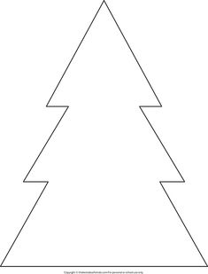 Christmas Tree Outline - The Best Ideas for Kids If you're looking for a simple Christmas tree outline to create a craft with we have the perfect printable for you. We turned this simple Christmas tree template into a Christmas tree. Christmas Tree Outline, Christmas Tree Stencil, Christmas Tree Printable, Christmas Tree Silhouette, Christmas Tree Template, Handprint Christmas Tree, Christmas Tree Painting, Small Christmas Trees, Christmas Tree Pattern