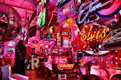 Explore the neon lights at God's Own Junkyard, Walthamstow, London