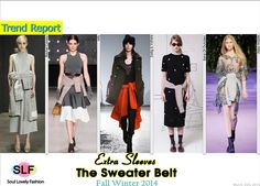 The sweater wrapped around the waist as a belt   #Fashion Trend for Fall Winter 2014 #Fall2014 #Fall2014Trends #FashionTrends2014