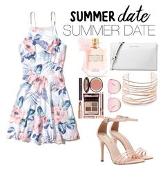 """""""summer date"""" by daijahbow34 on Polyvore featuring Hollister Co., Michael Kors, Alexis Bittar, Charlotte Tilbury, Victoria's Secret and Quay"""