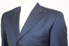 Givara Men's Turquoise Sport Coat Blazer Jacket Size 38S Made in Italy #Giver #ThreeButton