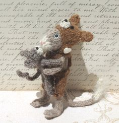 Knitted Cat Toy Mouse by ViolaSueKnits on Etsy, $36.95