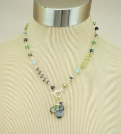 Anne Vaughan Designs - Tranquility Bright Silver Gemstone Necklace