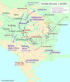 South East Europe history - 1,800 BC map