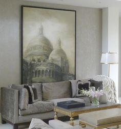 Basilica I, Regency Pillows, Montaigne Cocktail Table from Collection Ten by @ebanistacollect for the Newport Harbor Home & Garden Tour
