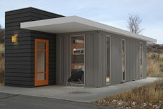Container House - 20 ft container and traditional framing - clickbank. Who Else Wants Simple Step-By-Step Plans To Design And Build A Container Home From Scratch? Building A Container Home, Container Buildings, Container Architecture, Modular Homes, Prefab Homes, Container House Design, Affordable Housing, Little Houses, Tiny Houses