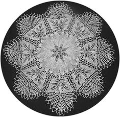 Dahlie - Round Doily In Knitted Lace By Herbert Niebling - PDF - US Letter Size