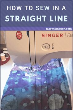 In this post, I'll go over my best tips and tricks for sewing in a straight line. When you first start sewing, you might notice that it's difficult to make sure your fabric feeds evenly, so that you can get a nice straight line of stitches. Even if you've been sewing for awhile, you might have troub