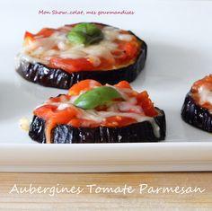 Aubergines rôties à la tomate et au Parmesan