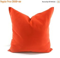 PILLOW SALE Cinnamon Pillow Cover. Solid by TwistedBobbinDesigns