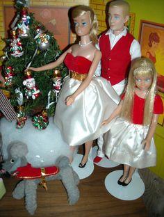 Vintage; Barbie, Ken, & Skipper