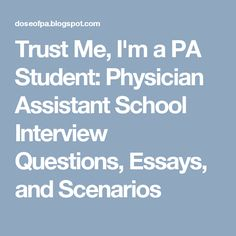 physician assistant interview questions and answers