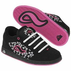 Adio's - Black - White - Pink - Sneakers - Skulls - ADIO