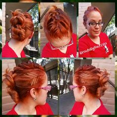 Mohawk with double buns
