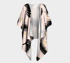 "Draped+Kimono+""Black+Feathers""+by+mmartabc"