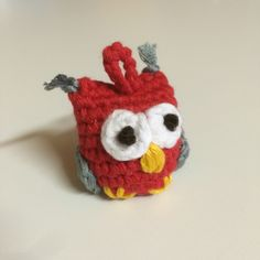 Ulo the owl, crocheted