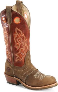 Double H Boots for Women | Double H Boot 12 Domestic U Toe ICE Buckaroo : Brown Whistler - Womens