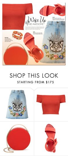 """""""Lovely Kitten"""" by nabilazfr ❤ liked on Polyvore featuring Gucci, Alice + Olivia, Eddie Borgo, Pour La Victoire and WALL"""