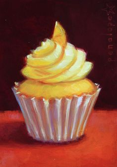 Cupcake Painting Painting - Ever After IIi by Penelope Moore Cupcake Painting, Cupcake Art, Cupcake Illustration, High School Art, Yummy Cupcakes, Art Pages, Cupcake Recipes, Ever After, Food Art