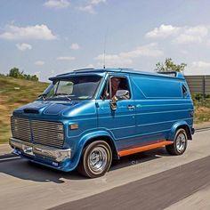 """""""The Love Shack"""" custom 70's Chevy van. It's interior is amazing."""