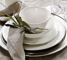 Our possible dinnerware. Napoli Dinnerware #potterybarn