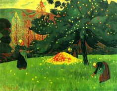 The Athenaeum - Apple Picking (Paul Sérusier - ) Paul Gauguin, Michener Art Museum, American Impressionism, Traditional Paintings, Beautiful Paintings, French Paintings, Tree Paintings, Amazon Art, So Little Time