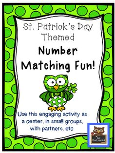 Here is a fun math center to get your students engaged with numbers and number concepts!This product includes:-number cards 1 - 24-24 task cards (3 sets of 8 cards, each set in a different color)-24 cards with tally marks-24 number word cards-24 cards with shamrocks to match to numbers and/or number words-sorting cards: odd/even and more than ten/less than ten-3 different printables to use as answer sheets with the task cards.Your students can mix and match any skill you choose!