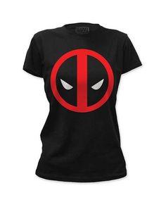 Amazon.com: Deadpool Women's Logo Girls Jr Soft Tee Black: Clothing