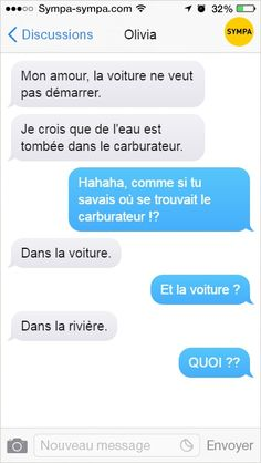 Les 17 textos les plus improbables Funny Sms, Funny True Quotes, Funny Messages, Funny Cute, Silence, Lol, Movie Memes, Epic Texts, Anime Manga