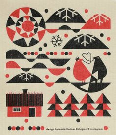 Creative Maria, Dahlgren, Illustration, Dish, and Towels image ideas & inspiration on Designspiration Scandinavian Fabric, Scandinavian Pattern, Scandinavian Design, Book Cover Design, Book Design, Textures Patterns, Print Patterns, Silkscreen, Tumblr