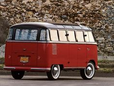 VW Samba  --my first car!  Wonderful --from the wrap-around windows to the canvas sun roof --to the side doors that swing (not slide) open. We loved that car.