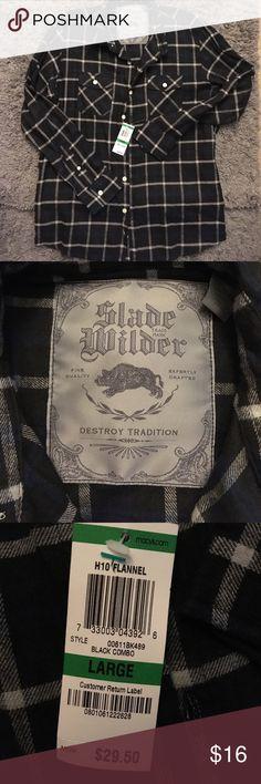 Slade Wilder bottom down Slade Wilder button down flannel slade wilder Shirts Casual Button Down Shirts