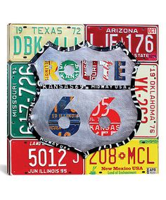 Look at this #zulilyfind! Design Turnpike Route 66 License Plate Sign II Wrapped Canvas #zulilyfinds