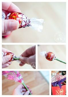 How to prep your candy and chocolate for a candy bouquet. This makes an awesome gift and is such an easy DIY project for Valentine's Day, Mother's Day, Graduation or a hostess gift. Check it out at The Bewitchin' Kitchen