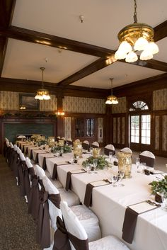 Indoor Wedding/Reception Venue - Library Room in The Lodge at The Stanley Hotel. Indoor Wedding Receptions, Wedding Reception Venues, Hotel Wedding, Wedding Locations, The Stanley Hotel, Happy Married Life, Library Room, Make Arrangements, Low Lights