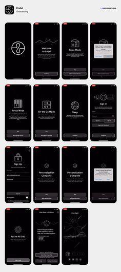 Endel - Onboarding Screenshots | UI Sources App Ui Design, Mobile App Design, Onboarding App, Flow App, Mobile Design Patterns, Splash Screen, App Design Inspiration, Interactive Design, Vivid Seats