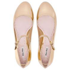 perfect ballerinas  miu miu shoes