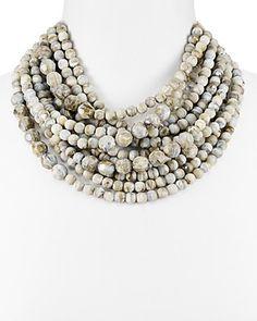 """Fairchild Baldwin Marcella Multi Strand Beaded Necklace, 17"""""""