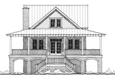 Allison Ramsey Architects | Floorplan for May Fair Cottage - 1838 square foot house plan # C0078