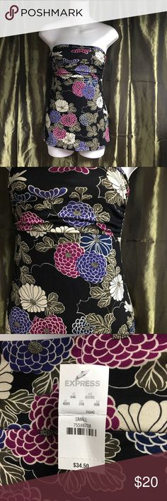 Express Tube top NWT beautiful coloring!! Sz small perfect w/jacket or alone w/shorts Express Tops