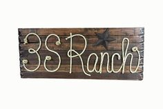 RANCH SIGN 42 Customize your own Rope Name Sign by RopeAndStyle