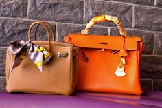 How to tie a scarf: on your bag--Hermes, of course. Photo: Peony Lim