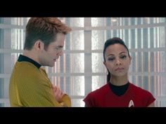 Star Trek Into Darkness - One of my favorite scenes, sometimes i just want to rip the bangs off his head!!! Wait, are you guys fighting? What is that even like?